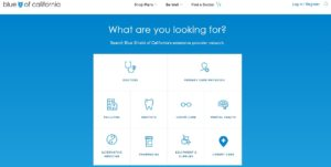 Doctor Search tool for Blue Shield of California