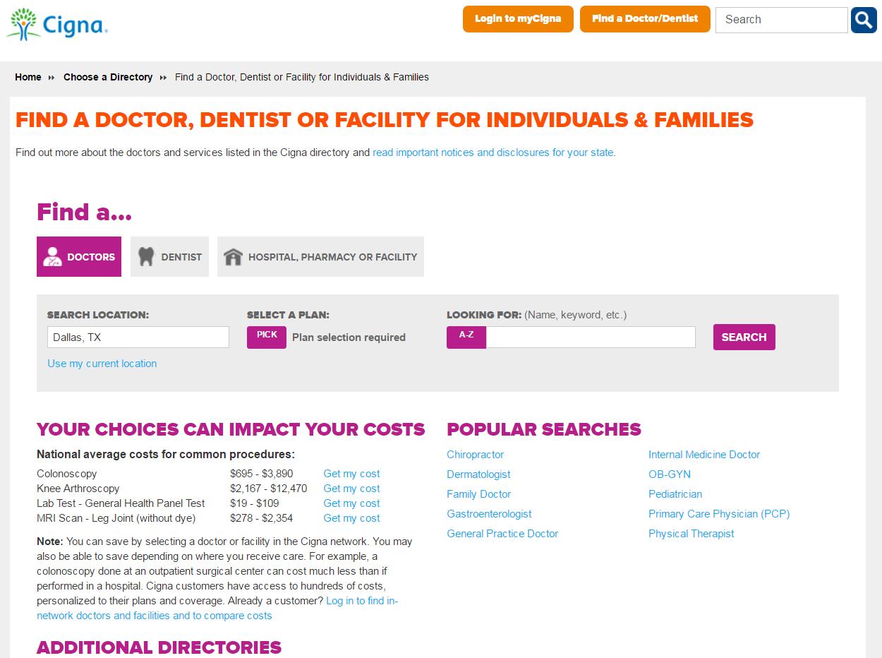 Cigna Health Care Provider Directory