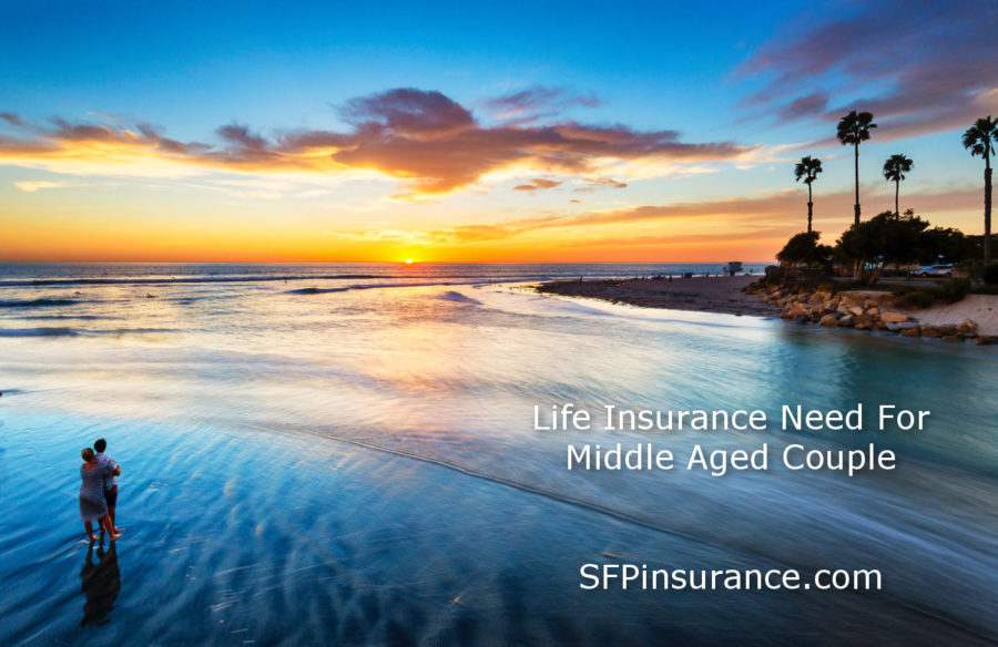 how much life insurance does a middle aged couple need?